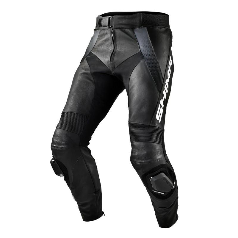 SHIMA STR BLACK pánske kožené nohavice