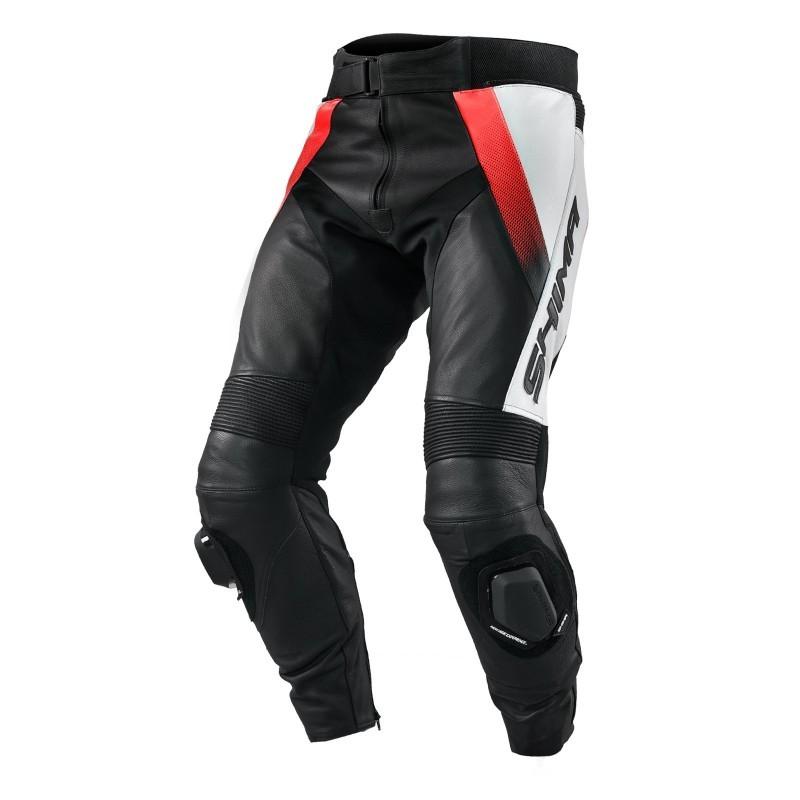 SHIMA STR ORANGE pánske kožené nohavice