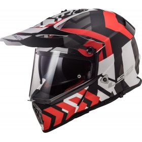 Prilba LS2 MX436 PIONEER XTREME matt black red