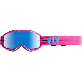 FLY ZONE Pink/Teal/Sky Blue Mirror okuliare