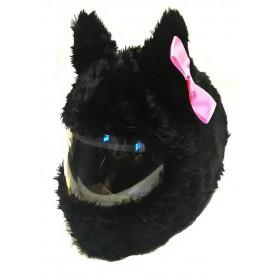 Návlek na prilbu MAČKA čierna