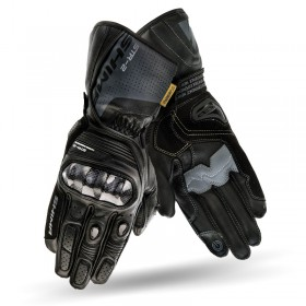 SHIMA STR-2 BLACK kožené rukavice na motorku