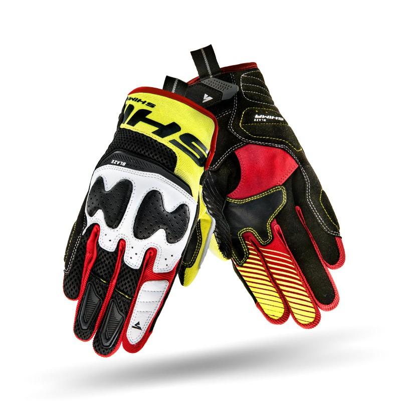 SHIMA BLAZE RED-YELLOW-FLUO rukavice