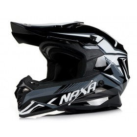 NAXA C9/K BLACK-WHITE off-road prilba