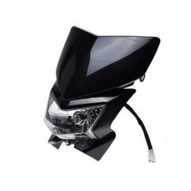 Predná ENDURO BLACK maska so svetlom