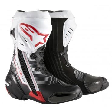 Alpinestars SUPERTECH R čierno-bielo-červené racingové čižmy