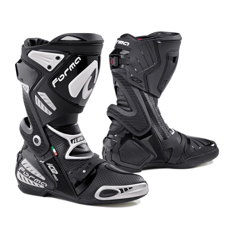 FORMA ICE PRO FLOW BLACK racingové čižmy na motorku