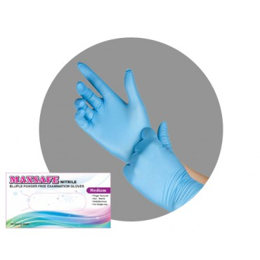 """MAXSAFE nitrilové rukavice """"XL"""" modré 100ks"""