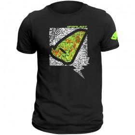 UFO T-SHIRT ALIEN BLACK TG pánske tričko s potlačou
