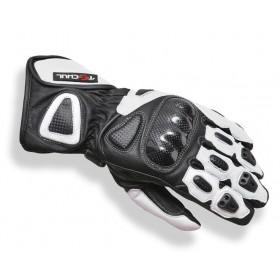 Tschul 212 kožené rukavice čierno-biele