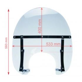 Ochranný plexi štít číri AW99L51 593x533