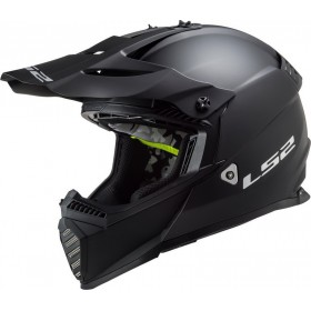 Prilba LS2 MX437 FAST EVO SOLID matt black