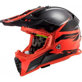 Prilba LS2 MX437 FAST EVO ROAD matt black red