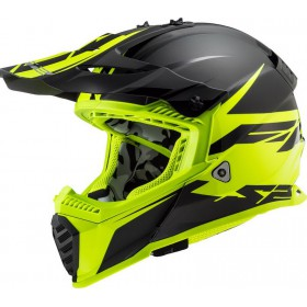 Prilba LS2 MX437 FAST EVO ROAR matt black H-V yellow