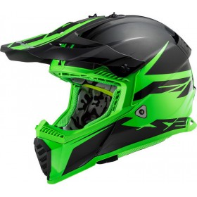 Prilba LS2 MX437 FAST EVO ROAR matt black green