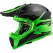 Prilba LS2 MX437 FAST EVO ROAR matt black green