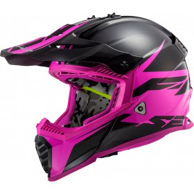 Prilba LS2 MX437 FAST EVO ROAR matt black purple