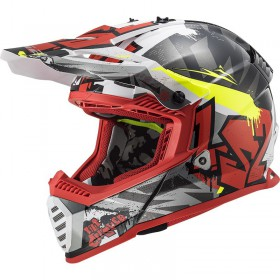 Prilba LS2 MX437 FAST EVO CRUSHER black red