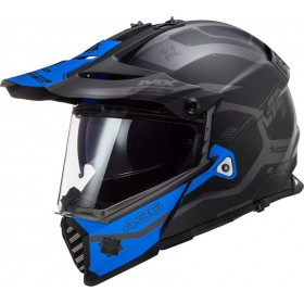 Prilba LS2 MX436 PIONEER EVO COBRA matt black blue