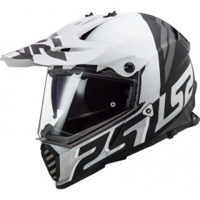 Prilba LS2 MX436 PIONEER EVO EVOLVE matt black white