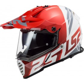 Prilba LS2 MX436 PIONEER EVO EVOLVE red white