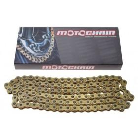 Reťaz MOTOCHAIN 520X-RING 120 článkov zlatá