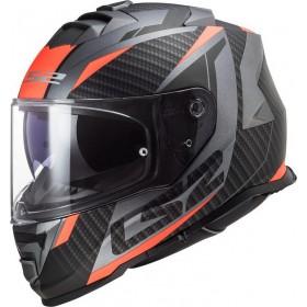 Prilba LS2 FF800 STORM RACER matt titanium fluo orange