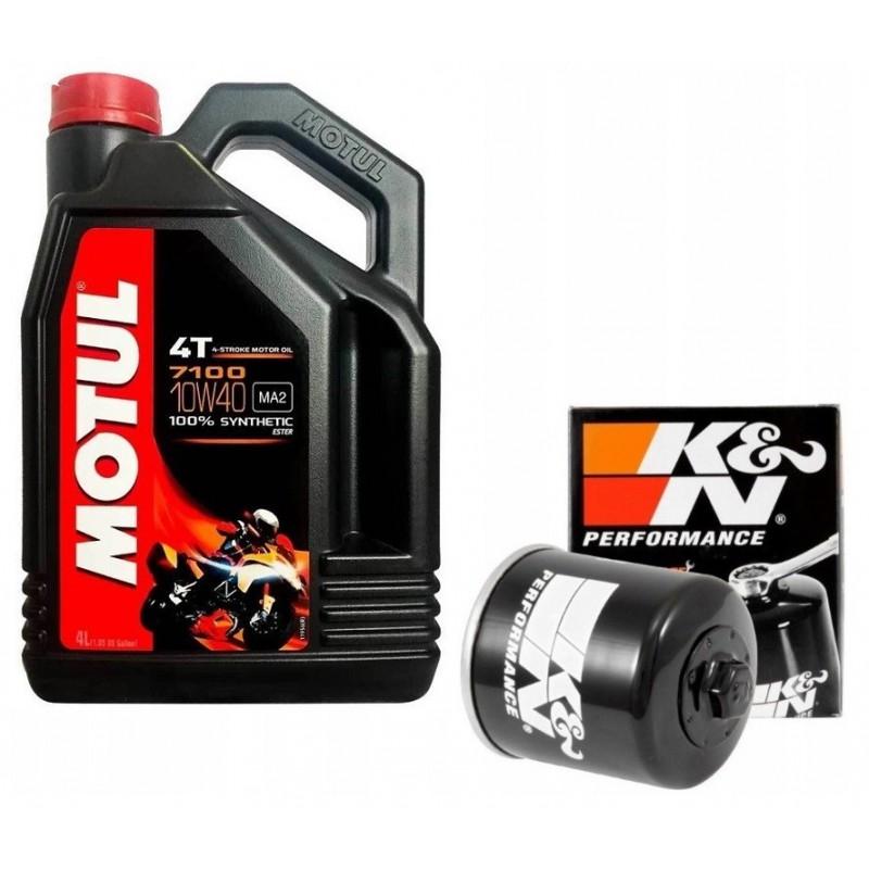 Motul 7100 4T 10W40 MA2 4L + KN olejový filter
