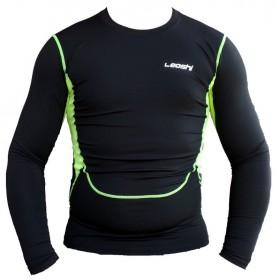 LEOSHI termo tričko s dlhým rukávom čierne-fluo