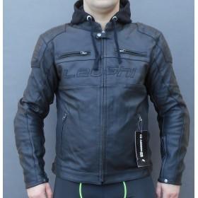 LEOSHI BANDIT kožená motobunda s integrovanou mikinou