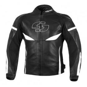 TSCHUL 890 kožená športová bunda čierno-biela