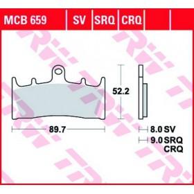 MCB659 TRW predné brzdové doštičky