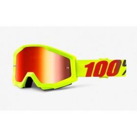 100 PERCENT STRATA ORANGE motokrosové okuliare s modrým zrkadlovým sklom