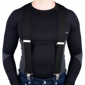 OXFORD Riggers traky do nohavíc, čierne