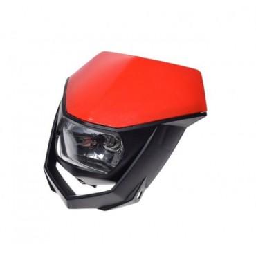 Predná ENDURO BLACK RED maska so svetlom