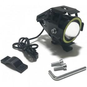 Prídavné LED svetlo CREE U7 RING COB 12-24V čierne