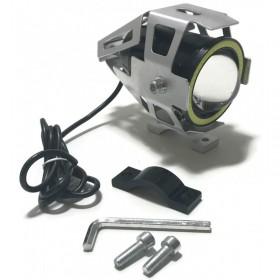 Prídavné LED svetlo CREE U7 RING COB 12-24V strieborné