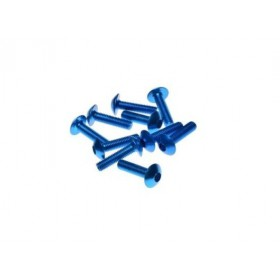 Ozdobné skrutky na kapotáž 5x20 modré 10ks