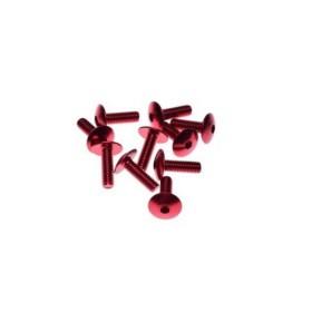 Ozdobné skrutky na kapotáž 6x20 červené 10ks