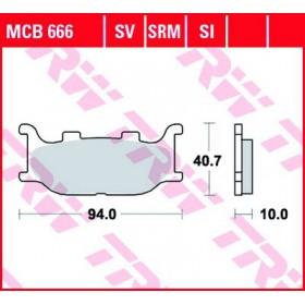 MCB666 TRW predné brzdové doštičky