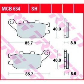 MCB634 TRW brzdové doštičky