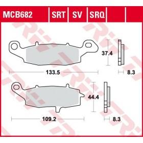 MCB682 brzdové doštičky