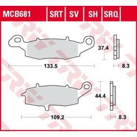 MCB681 brzdové doštičky