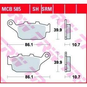 MCB585 TRW zadné brzdové doštičky