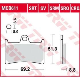 MCB611 TRW predné brzdové doštičky
