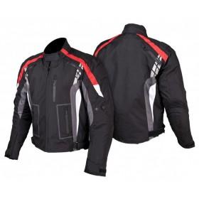 L&J KTM010 pánska textílna bunda čierno-červená