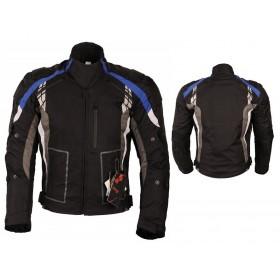 L&J KTM009 pánska textílna bunda čierno-modrá