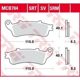 MCB704 TRW brzdové doštičky