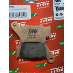 MCB672SI TRW zadné brzdové doštičky