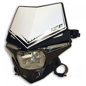 UFO STEALTH predná maska s dennými ledkami, čierno biela